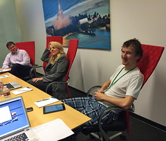 Pajama Party � I noticed Luke from Founder�s Fund at the SpaceX board meeting going way informal