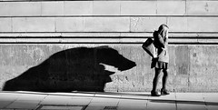 Shadow Monster (jaykay72) Tags: street uk blackandwhite bw london candid streetphotography princesstreet londonist stphotographia