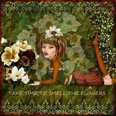 MAGNOLIA (Nonni_F) Tags: flowers flower collage digital doll circus artdoll mischief scrap scent xquizart