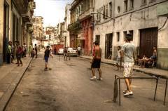 Streets of Havana - Cuba (IV2K) Tags: street soccer sony havana cuba centro caribbean cuban habana kuba lahabana rx1