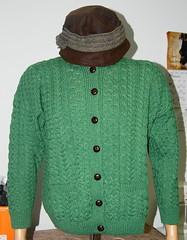 Irish Cardigan and Downton Abbey Hat
