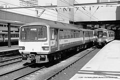 c.07/1988 - Leeds, West Yorkshire. (53A Models) Tags: train diesel leeds railway passenger westyorkshire pacer sprinter britishrailways dmu class150 class144 wypte 144016 150232