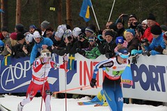 falunvm2015 Therese Jouhaug & Niskanen (nordan101) Tags: ladies mördarbacken johaug fisnordicworldskichampionshipsfalun2015thursday20150226crosscountryrelay4x5km falunvm2015