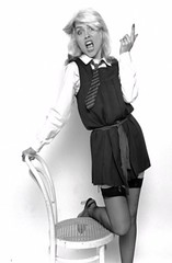 debbie harry 002a (gymslip-connoiseur) Tags: blondie debbieharry schooluniforms gymslip gymslips gymslipgirl