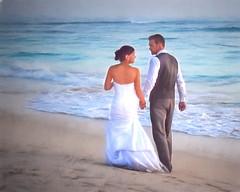 A Walk for Life (CapeCawder) Tags: watercolors puntacana weddingphotography bavarobeach beachphotography ononeperfecteffects8 topazimpression
