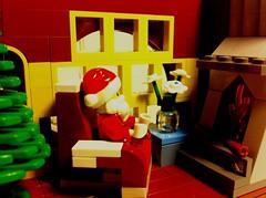 Merry X-mas and happy New Year! (tyfighter07) Tags: santa christmas xmas fireplace holidays lego brickbuilder7