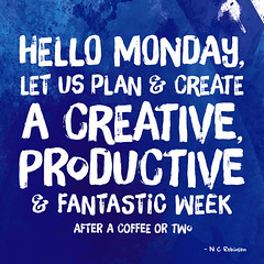 Monday Quote (Hi Ni) Tags: blue art typography artist creative plan type motivation positive create ultramarine monday bluemonday colbalt mondayblues morningquote mondayquote nyhagraphics fontsunday