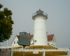 Nobska Point Lighthouse, Cape Cod, Massachussets (jag9889) Tags: ocean light usa lighthouse house seascape building tower architecture ma unitedstates outdoor capecod massachusetts unitedstatesofamerica 1999 structure atlanticocean navigationalaid jag9889