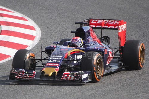 Max Verstappen in the Toro Rosso during Formula One Winter Testing 2015