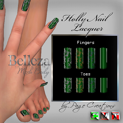 ღ ♡ Nail Lacquers For Belleza ♡ ♡ ღ - Holly Green by Page Creations™