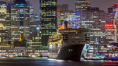 Queen Mary 2 - Sydney 12/3/2015 (TonyJ86) Tags: city nightphotography skyline night nikon ship harbour sydney large australia circularquay terminal nsw cruiseship newsouthwales passenger qm2 queenmary2 cunard sydneyharbour queenmaryii oceanliner cruiseliner qmii sydneycity passengership cunardline luxuryliner d7100 sydneyoverseaspassengerterminal nikkor70200mmf28vrii nikond7100