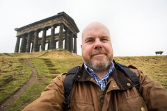 Penshaw Monument, a selfee and a cow. (CWhatPhotos) Tags: pictures camera uk portrait england monument self canon that beard photography eos cow site foto image artistic pics coat iii horizon hill north picture pic images east have jacket photographs national photograph fotos trust 5d wax barbour which contain sunderland selfie penshaw selfies selfees selfee cwhatphotos