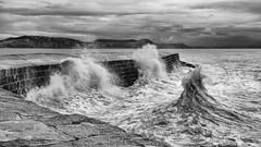 The Cobb Lyme Regis (Nigel Jones QGPP) Tags: sea storm weather waves harbour historic cobb breakers lymeregis