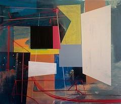 Jim Harris: Studio. (Jim Harris: Artist.) Tags: abstract art geometric yellow painting studio artist arte kunst tableau maalaus mlverk geometrick malerkunst