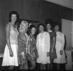 "Pioneers Spring Meeting 1975-Doris Wesolowski, Madge Trick, Sharon Scott, Jean Ann McLain, Bettie Sorie, Fran Riffe <a style=""margin-left:10px; font-size:0.8em;"" href=""http://www.flickr.com/photos/130192077@N04/16225448629/"" target=""_blank"">@flickr</a>"