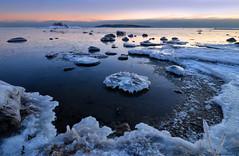 Fragmented shoreline (tinamar789) Tags: winter sea snow seascape cold ice water finland landscape coast helsinki frost horizon shoreline freezing coastline seashore fragmented