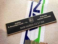 BMW / ALPINA C2 2.7 018 (bmw_alpina_teile) Tags: 2002 bavaria sticker alpina plate turbo dash 25 bmw b2 23 vin 28 decal e3 m3 a4 35 27 c2 console 325i e6 b7 csl e30 neue klasse aufkleber e9 320 nk b6s tii e34 c1 e10 b12 e36 biturbo e20 e32 b3 b9 e28 323i b6 320i e39 b11 b10 e21 e12 e23 e24 e31 b8 typenschild a4s bovensiepen