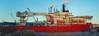 Wellservicer takes a break (beqi) Tags: panorama edinburgh ship leith photoshoppery 2015 leithdocks