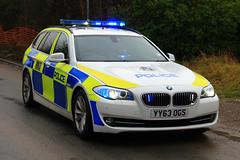 Humberside Police BMW 530d Touring Armed Response Vehicle (PFB-999) Tags: car estate clusters police bmw vehicle leds touring grilles response unit firearms armed lightbar humberside arv 530d dashlight yy63ogs