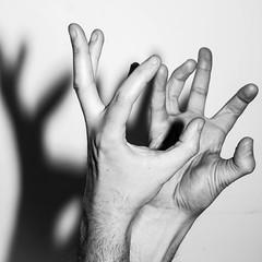 2015-02-19 -- Blip 181 (danielg.blount.photography (please don't follow me) Tags: shadow blackandwhite bw monochrome canon mono blackwhite hands shadows hand finger fingers blip 550d blipfoto eos550d