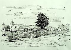 Larmor-Baden - Vers la cale de Penn Lannic (Jean-Paul Rivière) Tags: sketch croquis pittartistpen
