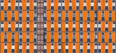 Rennes - Office Building [Explored] (Hervé Marchand) Tags: windows orange building architecture bretagne repetition rennes fenetre immeuble urbain répétition inexplore