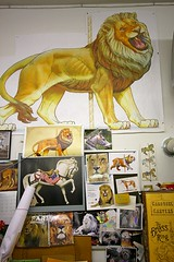 """The King of the Jungle"" - 15-02-28-40D-A-10-22-EFS_20-3 (BrandyVSOP) Tags: wood cats animals museum oregon canon painting bears dragons carousel carving gustav tigers lions albany historical giraffe unicorns merrygoround zebras the menagerie dentzel gustavdentzel brandyvsop albanycarousel todogs thehistoricalcarouselmuseuminalbanyoregon"