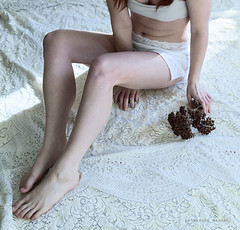 (Katharine Hannah.) Tags: flowers portrait white selfportrait girl self photographer personal lace pale teen delicate virginity pure purity conceptualphotography rapeculture katharinehannah