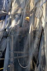 """Builder Behind the Net"" in Hong Kong (Ben Molloy Photography) Tags: street people net person photography nikon scaffolding ben hong kong human behind molloy builder benmolloy benmolloyphotography benmolloyhongkong"