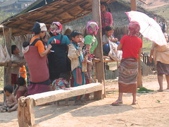 Akha Selling Their Crafts