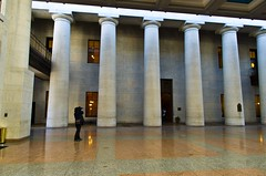 Shooting the Columns (ramseybuckeye) Tags: life columbus ohio building art square pentax capitol atrium senate statehouse