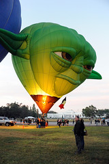 Yoda Up Fires (BrianRope) Tags: festival australia event canberra hotairballoons act balloonfestival