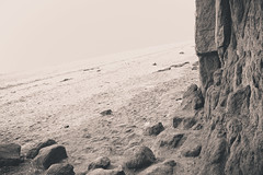 Caveman (dougsfilmsinc) Tags: sea man beach canon cliffs cave caveman hunstanton 6d