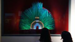 Feathered headdress,  Aztec (reproduction)