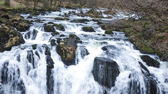 White water (MJ-Photographics) Tags: winter wales landscape waterfall top boulder falls edge welsh february betwsycoed swallow snowdonia conwy banks plunge swallowfalls llugwy