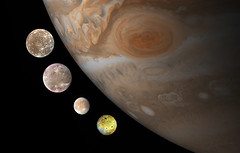 Galilean Moons Ganymede The Four Galilean Moons of