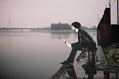 """Obsession"" (Janitors) Tags: portrait water fog river dark pier sitting moody sad flash obsession addiction forte upe daugava migla flashportrait jnissildniks ekoforte bioenertiskistrukturtsdensekoforte strukturtsdens denseko"