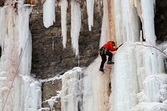 Ice Climber (Fionn Luk) Tags: winter snow ontario canada ice nature canon landscape climb waterfall view hamilton scene falls climbing 5d icicles luk iceclimber fionn iceclimb tiffanyfalls