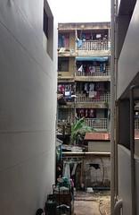 Bangkok Wash Day (jcbkk1956) Tags: balconies walls narrow flats houses alley alleyway street clothes line washing soi thonglo thailand bangkok iphone5