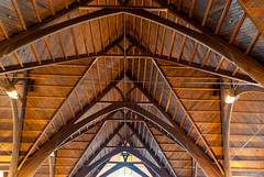 Beautiful Beams (Jocey K) Tags: newzealand christchurch building church architecture ceiling nz beams rebuild knoxchurch knoxchurchopenday