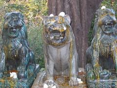 Three Lions at Wat Phnom