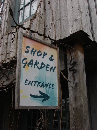 "Tangled Garden Shop Entrance Sign • <a style=""font-size:0.8em;"" href=""http://www.flickr.com/photos/35386275@N08/16704935982/"" target=""_blank"">View on Flickr</a>"