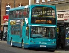 Arriva Midlands (4733) DAF ELC Lowlander - FD02 UKU (J.J.Pay 8581) Tags: uk bus midlands daf eastlancs 49a db250 mylennium fd02uku