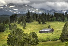 Shelter from the Storm - Boulder County, Colorado (Bryan Harding - Outside the Box Design Studio) Tags: ranch storm weather barn landscape colorado farm pasture rockymountains wilderness shelter oldbuilding overland indianpeaks mountainlandscape bouldercounty mountaudubon highcounty