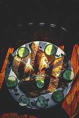 Fish dish (allejandrine) Tags: stillife fish dish food vegetables light lines chair