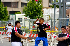 Karate Exhibition Skokie Illinois 4th of July Parade 2016 3731 (www.cemillerphotography.com) Tags: holiday kids illinois families celebration route politicians celebrities independence 4thofjuly clowns classiccars floats acts