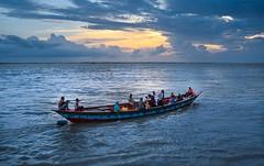 Journey towards destination! (ashik mahmud 1847) Tags: light sky people cloud water river journey nikkor bangladesh d5100