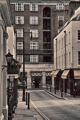 nostalgia (jazzwink) Tags: london street restaurant lamp lantern pavement sidwalk shop