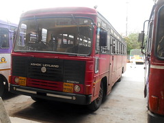 MSRTC Brand New Parivartan Resting at Shirdi Bus stand (gouravshinde94) Tags: msrtc bus parivaratan panvel shirdi