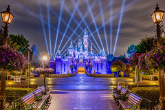 Diamond Sleeping Beauty Castle (brosephotoz) Tags: disneyland sleepingbeautycastle hdr night